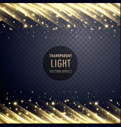 transparent light effect with sparkling effect vector image