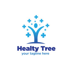 tree medicine logo designs vector image
