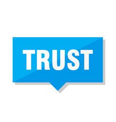 Trust price tag vector