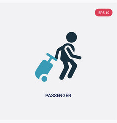 Two color passenger icon from people concept vector