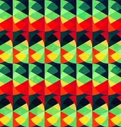 vintage circle seamless pattern vector image