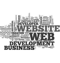 Web development the hardest part text word cloud vector