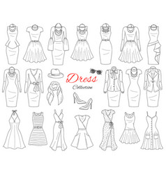Women s clothing collection vector