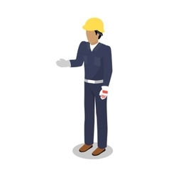 Worker in uniform flat design vector