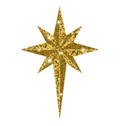 bethlehem christmas golden star isolated on white vector image vector image