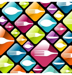 Dishware gourmet icons background vector image vector image