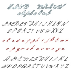 Hand drawn font Handwriting doodle alphabet vector image vector image
