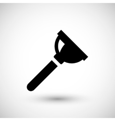 Plumbing plunger icon vector image vector image