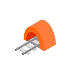 Railway tunnel isometric 3d icon vector image