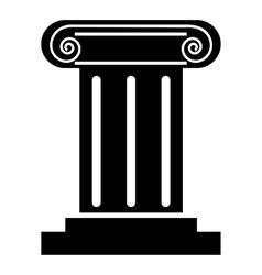 Roman column icon simple style vector