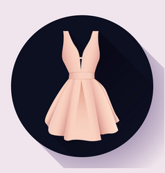 woman dress icon vector image