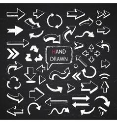 Arrows on a chalkboard vector