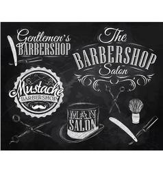 Barbershop Set chalk vector image