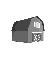 Barn for animals icon black monochrome style vector image vector image