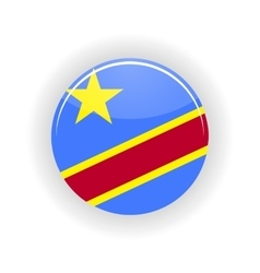 Democratic Republic of the Congo icon circle vector image