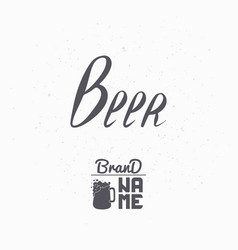 hand drawn sign beer vector image