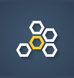 honeycomb icon with shadow vector image