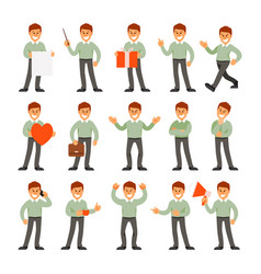 man in different positions vector image