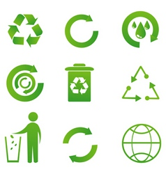 set of recycle icon vector image
