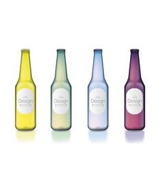 colorful bottle template set vector image