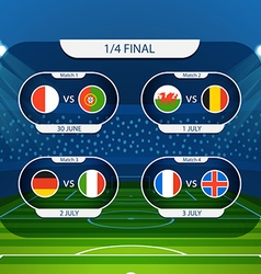 Different country flags collection Football vector image