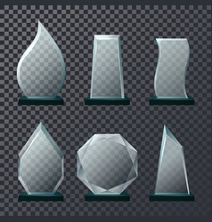 empty glassware trophy or sport award vector image
