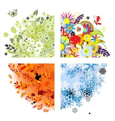 four seasons - spring summer autumn winter vector image