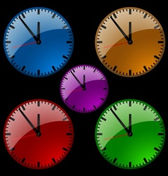 Glass Dial Clock vector image vector image