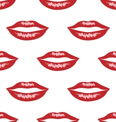 Red lips with highlights vector image vector image