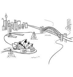 Sydney Sketch vector image