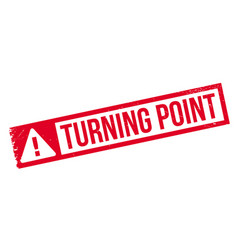 turning point rubber stamp vector image