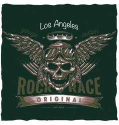 vintage hot rod t-shirt label design vector image