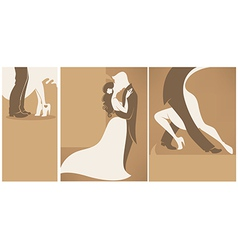 wedding collection vector image vector image