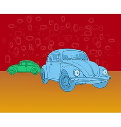 Beetle Hippies Car vector image