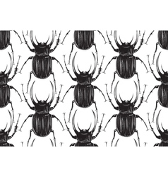 Black Beetle Insect Seamless Pattern vector image vector image