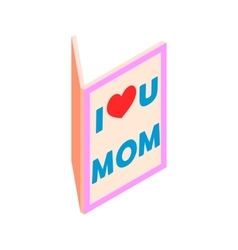 Greeting card for Mother Day isometric 3d icon vector image vector image