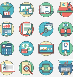 Outline set business icons vector image vector image