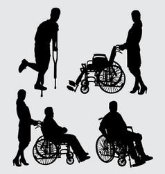 Sick people silhouette vector