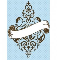 swirl ornament vector image vector image