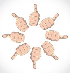 Thumbs vector image vector image
