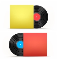 vinyl disc and cover vector image