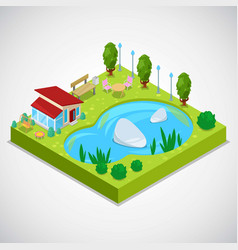 3d isometric country vector