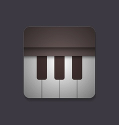 410piano iconVS vector image