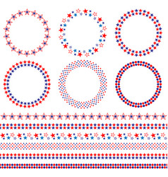 4th july frames and borders vector