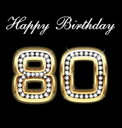 80th happy birthday vector image