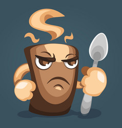 a fearsome coffee mug vector image