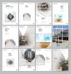 a4 brochure layout covers design templates for vector image
