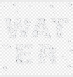 Abstract background with transparent water drops vector