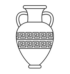 ancient vase icon outline style vector image