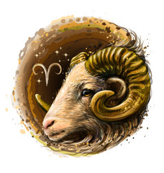 Aries is a sign zodiac vector